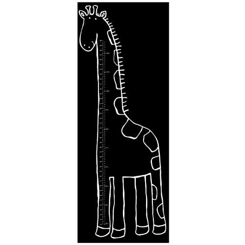 Wallies 16038 Peel and Stick Wall Art, Play Giraffe Chalkboard Growth Chart