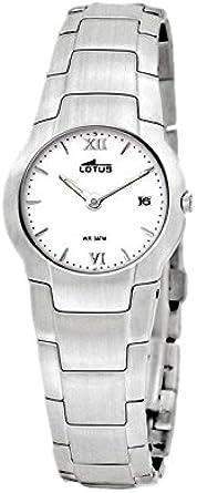 LOTUS 9914/1 - Reloj de mujer en acero con esfera color blanco