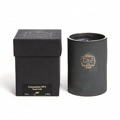 Gold Rim Porcelain - Joya Composition No.6 22k Gold Rim Porcelain Candle (Soy + Vegetable + Beeswax Blend Candle)