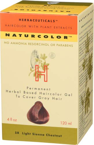 Naturcolor 5R Light Sienna Chestnut Hair Dyes, 4 Ounce