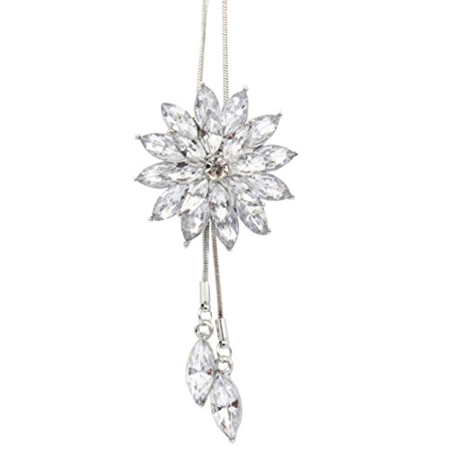 Clearance Deals Fahion Women Charm Bridal Engagement Crystal Rhinestone Snowflake Pendant Necklace Jewelry Gift by ZYooh (A) ()
