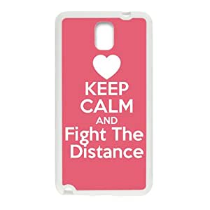 Keep Calm And Fight The Distance White samsung galaxy note3 case