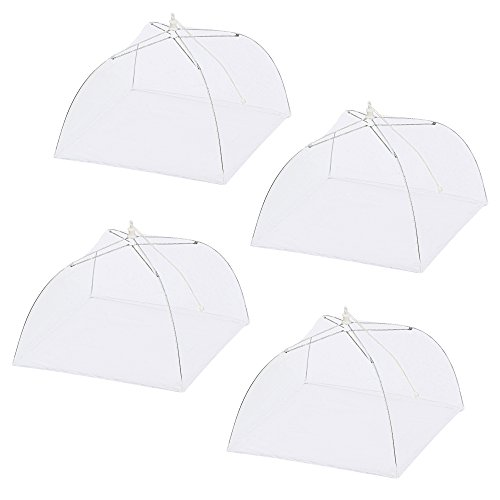 Price comparison product image 4 Pack of Ipow Pop Up Mesh Screen Food Cover Tent, 17 Inches Reusable and Collapsible Outdoor Food Cover, Food Protector Tent Keep Out Flies,  Bugs