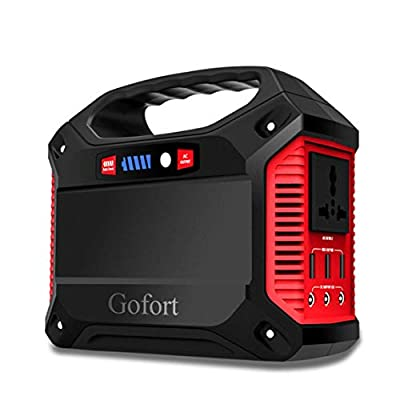 Best Cheap Deal for Portable Generator Power Inverter 42000mAh 155Wh Rechargeable Battery Pack Emergency Power Supply for Outdoor Camping Home Charged by Solar Panel Wall Outlet Car with 110V AC Outlet 3 DC 12V USB Port by GOFORT - Free 2 Day Shipping Ava