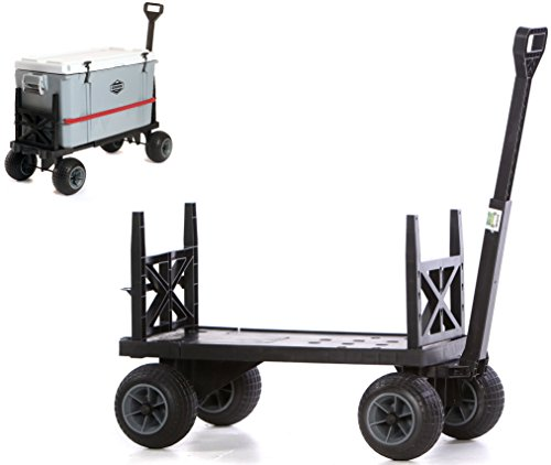 - Cooler Cart Ice Chest Box Carrier Wagon with on Wheels Igloo Yeti Coleman Pelican Grizzly Rubbermaid Hauler
