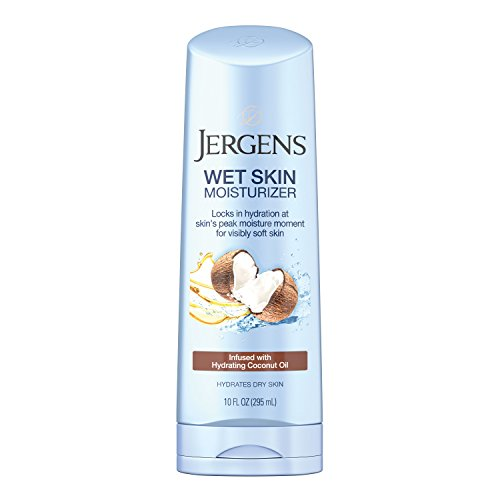 Jergens Wet Skin Body Moisturizer with Refreshing Coconut Oil, 10 Ounces (Packaging May Vary)