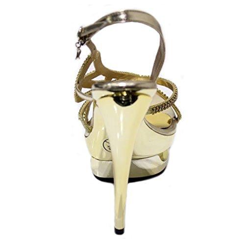 oro Gold Prom Shoes Evening W Tacco amp; Ladies Sandali Women Taglia Rosie Sposa Argento Con Da Wedding qaqwR0nOSx