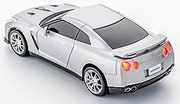 Click Car CCM660288 Nissan GT-R Wireless Optical Mouse, Silver Matte