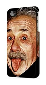 LJF phone case S0144 Albert Einstein Case Cover for iphone 4/4s
