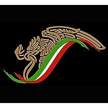 "Mexican Eagle Flag Sticker Decal Mexico Aguila Mexicana (12""x8"") (7""x4"")"