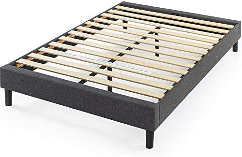 ZINUS Curtis Upholstered Platform Bed Frame / Mattress Foundation / Wood Slat Support / No Box Spring Needed / Easy Assembly, Grey, Full 41avlKaHRfL
