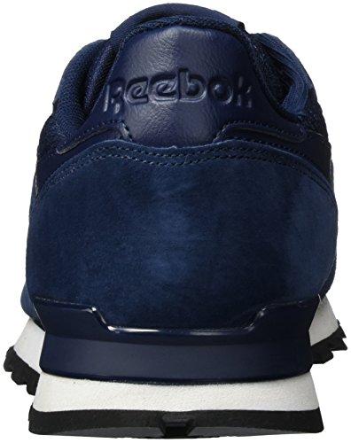 Blu Ginnastica Clip Black Navy White da Uomo Reebok Leather Basse Tech Scarpe Classic Collegiate BYpFzfqRw