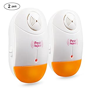 Pest Control Ultrasonic Repeller 2 packs Electronic Plug In Pest Control , Rodents & Insects Repellent