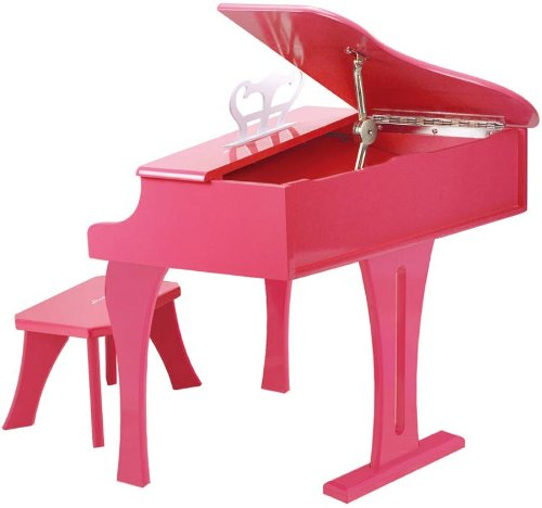 Hape Happy Grand Piano in Pink Toddler Wooden Musical Instrument by Hape (Image #7)
