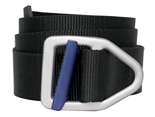 Bison Designs Two Tone Light Duty 38mm Last Chance Belt, Black/Cobalt Blue, Large/42
