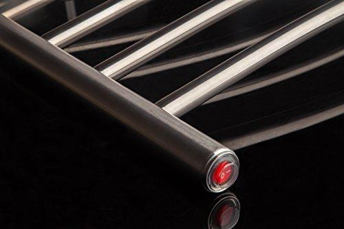 [해외]Heatgene Wall Mounted 곡선 타올 따뜻하게, 브러쉬 처리 됨/Heatgene Wall Mounted Curved Towel Warmer, Brushed