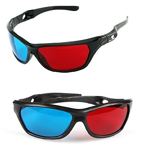 2Pcs Red-blue / Cyan Anaglyph Simple Style 3d Glasses 3d Movie Upgrade Style,Style 2