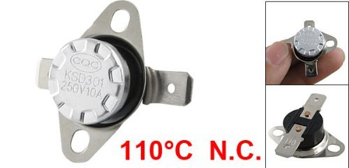 DealMux KSD301 110 Celsius interruptor de controlo de temperatura do termostato NC: Amazon.com: Industrial & Scientific