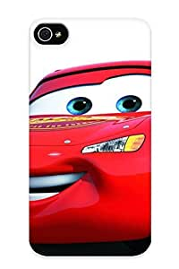 New Style Tpu 4/4s Protective Case Cover/ Iphone 4/4s Case - Lightning Mcqueen 2 Free 571