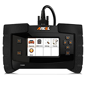 Image of ANCEL FX4000 All System Automotive OBD2 Scanner Car Code Reader Vehicle OBDII Diagnostic Scan Tool for Check Engine ABS SRS Transmission EPB ESP SAS TPMS Scan Tools