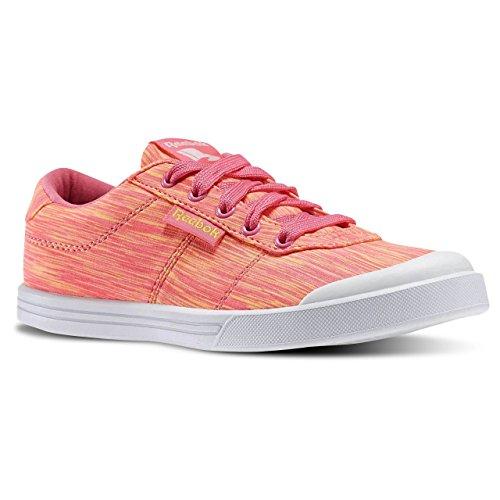 Reebok Royal Cljog 2 2v, Zapatos de Primeros Pasos Para Bebés Blanco / Rosa (White/Fearless Pink)