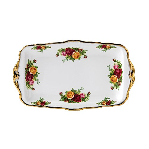 Vintage Sandwich Tray - Royal Albert 15210136 Old Country Roses 11-3/4-inch Sandwich Tray