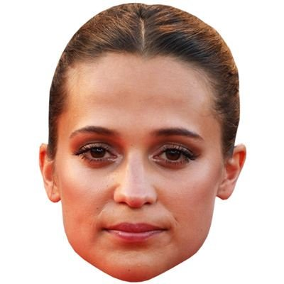 Alicia Vikander Celebrity Mask, Card Face and Fancy Dress Mask (Celebrity Face Masks)
