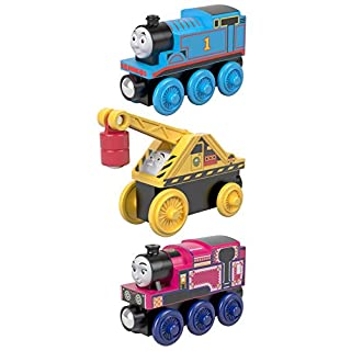 Fisher-Price Thomas & Friends Small Engine, 3 Pack, These Thomas & Friends Wood toy trains help kids experience a world of imaginative play as they craft stories for these beloved characters.