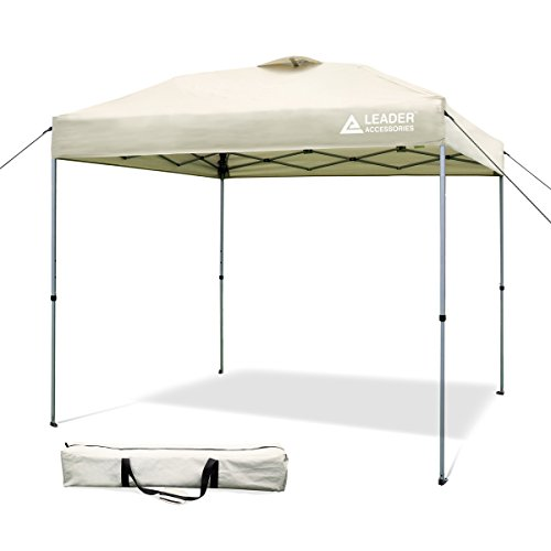 Cheap Leader Accessories 8′ x 8′ Straight Wall Instant Canopy with Carry Bag 8′ x 8′ Straight Wall Instant Canopy with Carry Bag (Beige)