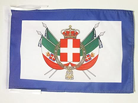 AZ FLAG Bandiera Italia 45x30cm BANDIERINA Italiana 30 x 45 cm cordicelle