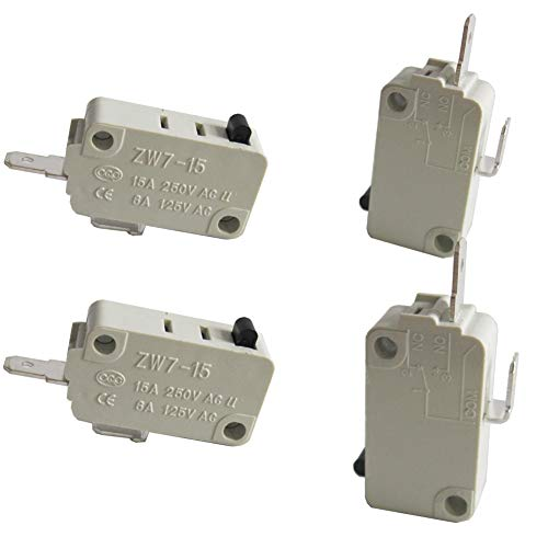 - TWTADE/4Pcs Universal Microwave Oven Door Micro Switch for DR52 NO (Normally Open) 16A 125/250V ZW7-15-W/NO