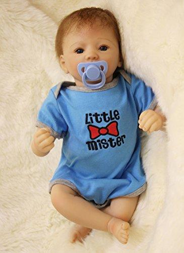 Best Choice For Kids Birthday Gift 20 Inch Reborn Baby Newborn Silicone Babies Dolls Boy With Blue Clothes Kids Birthday Gift