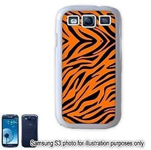 Orange Zebra Animal Print Pattern Samsung Galaxy S3 i9300 Case Cover Skin White
