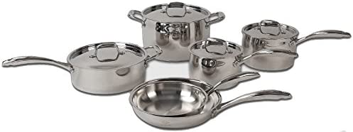 Lenox L-12360 L-12360 Cookware Set, 10 Piece, Stainless Steel