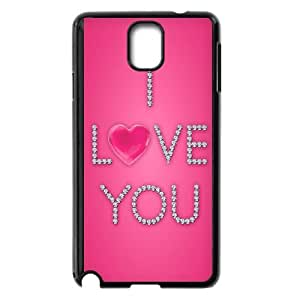 Love Pink Samsung Galaxy Note 3 Cell Phone Case Black E0577621