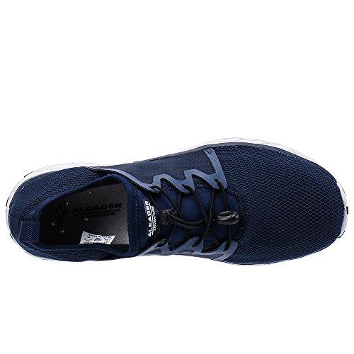 Slip ALEADER 207 on Men's Mesh Shoes Gray Navy Water OOZEqn