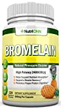 Bromelain - 500mg - 2400 GDU - 120 Vegetable Capsules - Pure Pineapple Enzyme Extract - Supports Digestion, Nutrient Absorption and Weight Loss - Great for Recovery, Sinus Ease, Joint and Heart Health