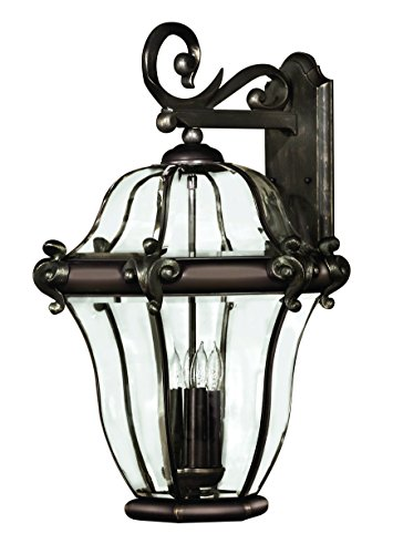 Hinkley 2446CB Traditional Four Light Wall Mount from San Clemente collection in Copperfinish,
