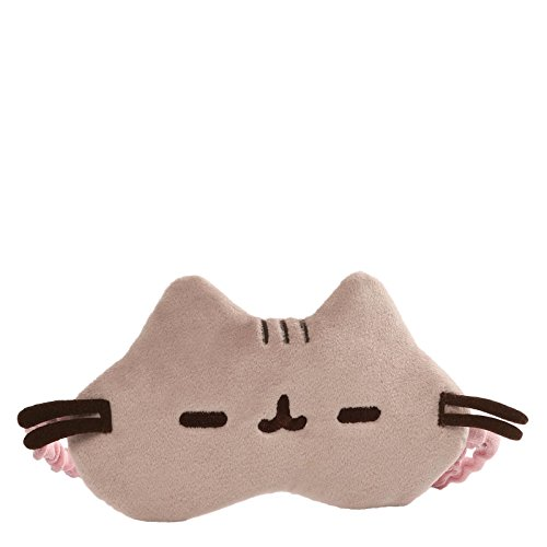 GUND Pusheen Stuffed Animal Sleep Mask Cat Plush, (Elastic Styler)