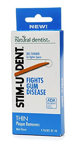 Mint Removers Plaque Stimudent - Stim-U-Dent Plaque Removers Thin Mint 160 Each (Pack of 6)