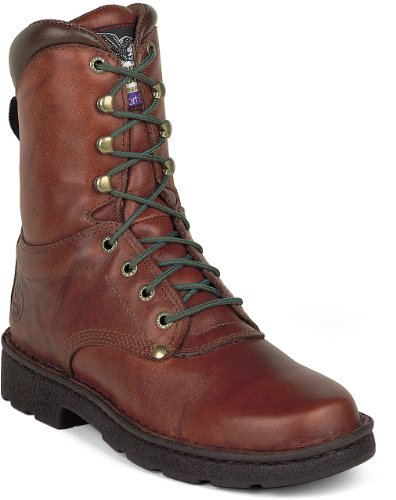 "Core Steel Boot - Georgia Boot Men's Eagle Light 8"" Work Boot,Brown,9.5 M"
