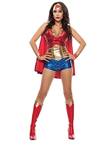 Starline Women's Wonder Lady Sexy 5 Piece Costume