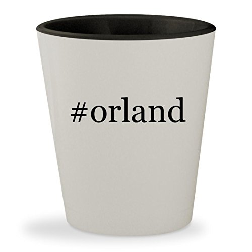 #orland - Hashtag White Outer & Black Inner Ceramic 1.5oz Shot - Park Orland In Stores Il