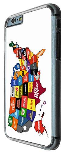 767 - North America Commercial Map Design iphone 6 6S 4.7'' Coque Fashion Trend Case Coque Protection Cover plastique et métal
