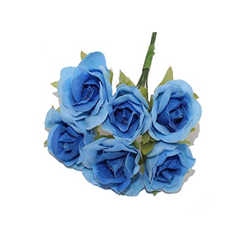 Blue-shore 3CM 60PCS/lot Artificial Flowers Cloth Rose Heads DIY Beginning Decorative Wedding Party Handmade Flowers,9