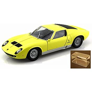 Amazon Com Lamborghini Miura P 400 S Yellow Motormax 73368 1