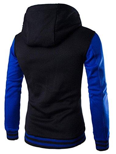 Cappotto Capispalla Giacca Uomini 9347 Design Uomo Blue Casuale Sport Moda Inverno Jeansian Tendenza Sottile wYX8UPpaxq
