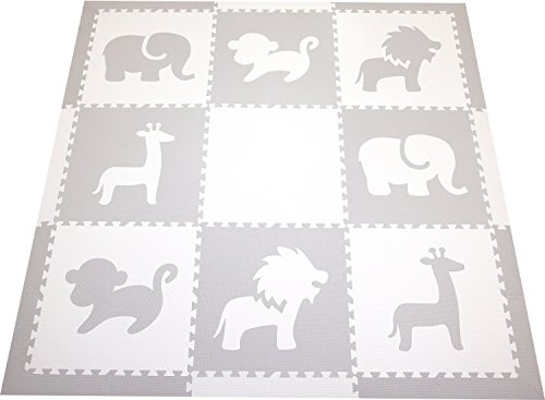 SoftTiles Safari Animals Premium Interlocking Foam Large Children's Playmat 78