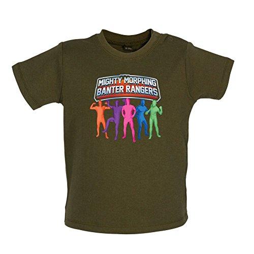 Mighty Morph Rangers - Baby / Toddler T-Shirt - Camo Green - 18-24 Months (Green Ranger Morph Suit)
