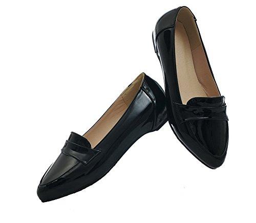de con mujer zapatos cerrado alto Zapatos tacón negros cierre VogueZone009 tacones de para PU con 54wqZTxn